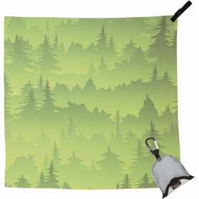 PackTowl Nano Towel, green trees